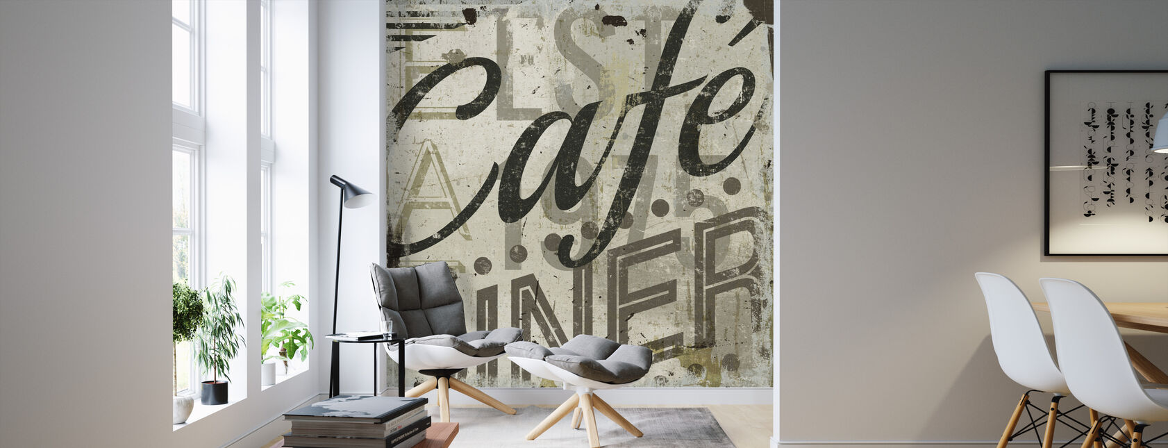Restaurant Sign II - Wallpaper - Living Room