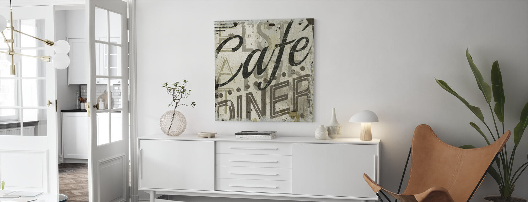 Restaurant Sign II - Canvas print - Living Room