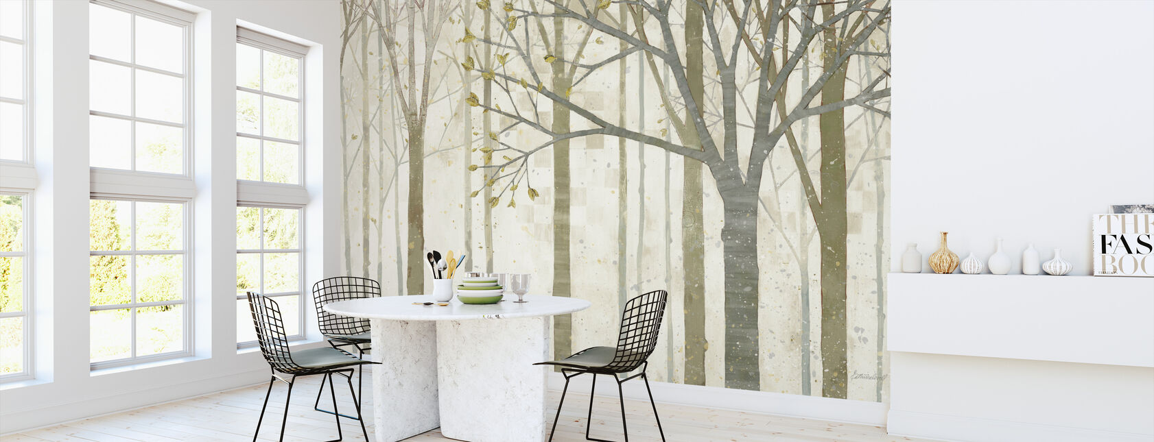 In Springtime - Wallpaper - Kitchen