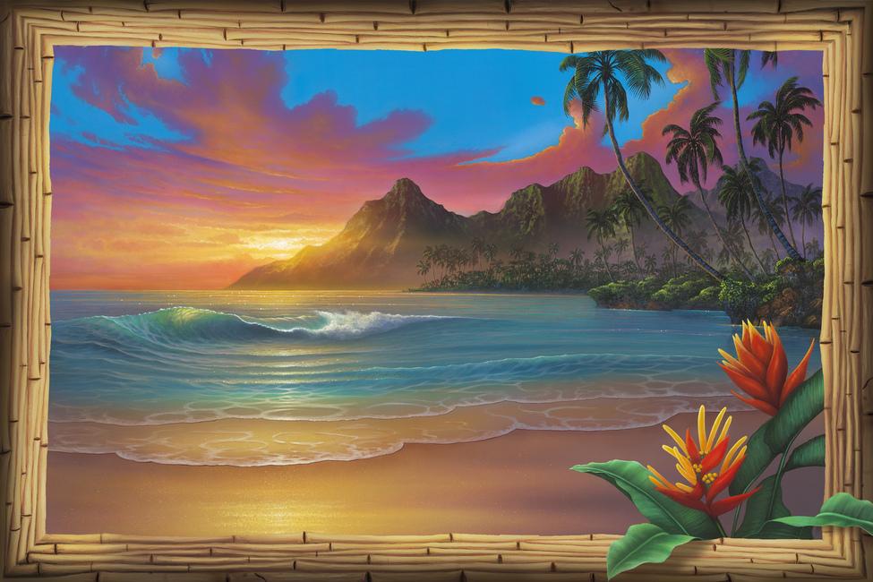 Kuva Beyond Paradise Tapetit / tapetti 100 x 100 cm