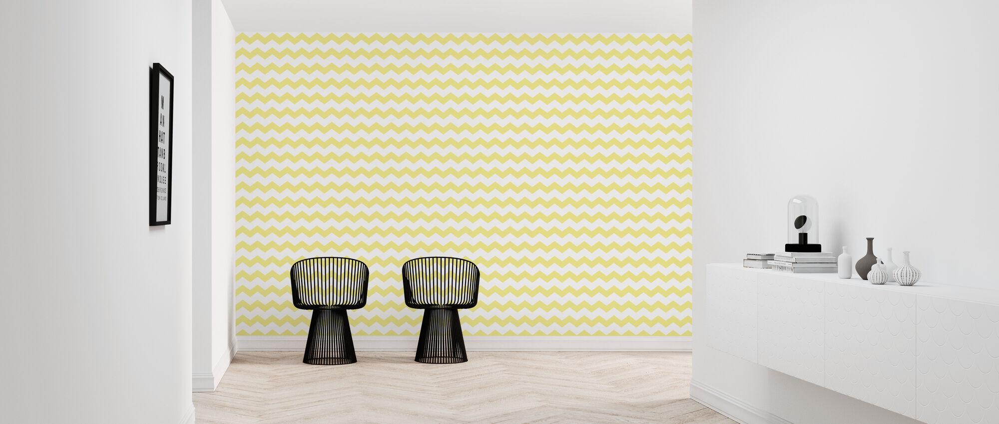 Zickzack - Yellow - Wallpaper - Hallway