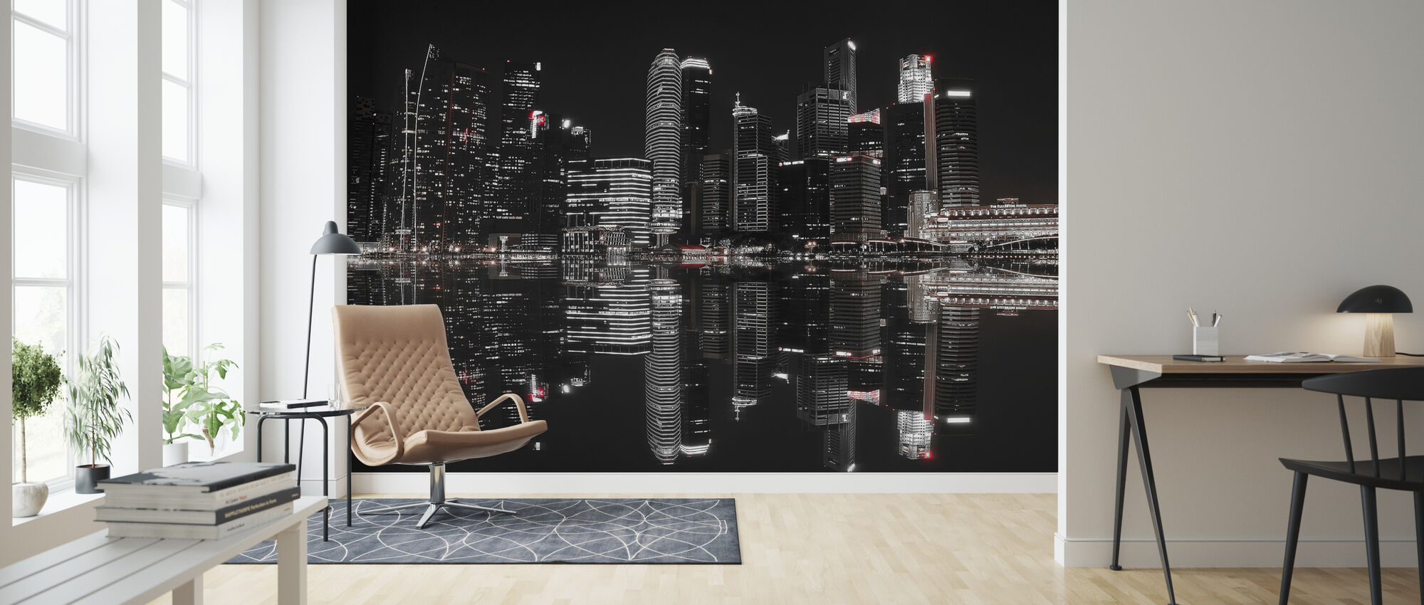 Night in Singapore - Wallpaper - Living Room