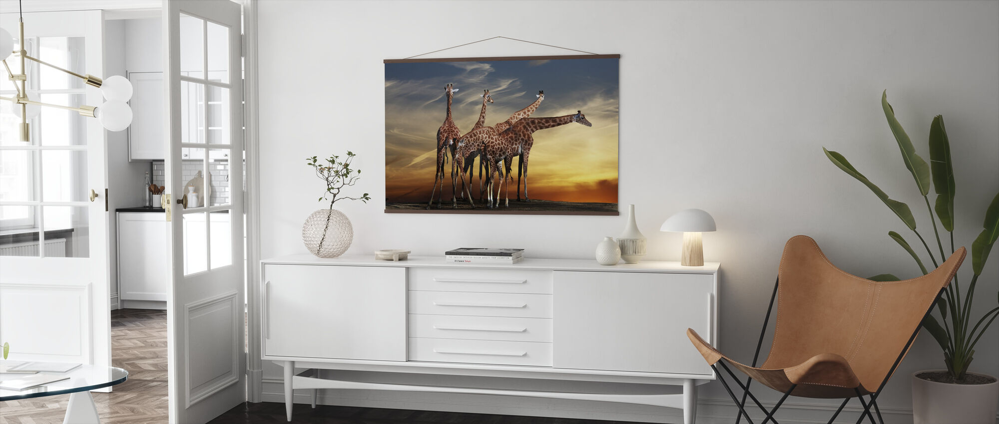 Giraffes and a View - Poster - Living Room