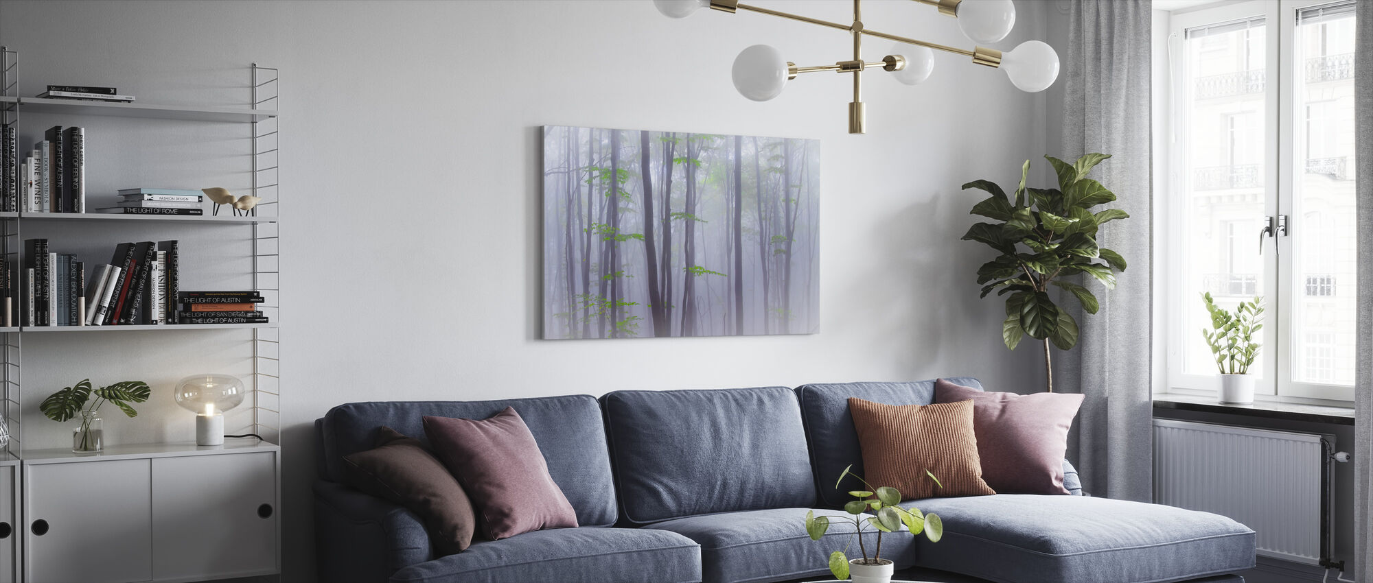 Misty Woods - Canvas print - Living Room