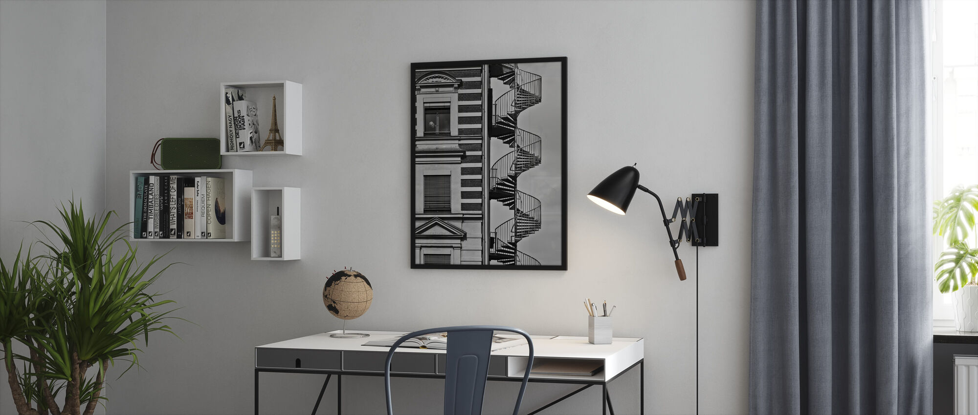 Lonely Man - Framed print - Office