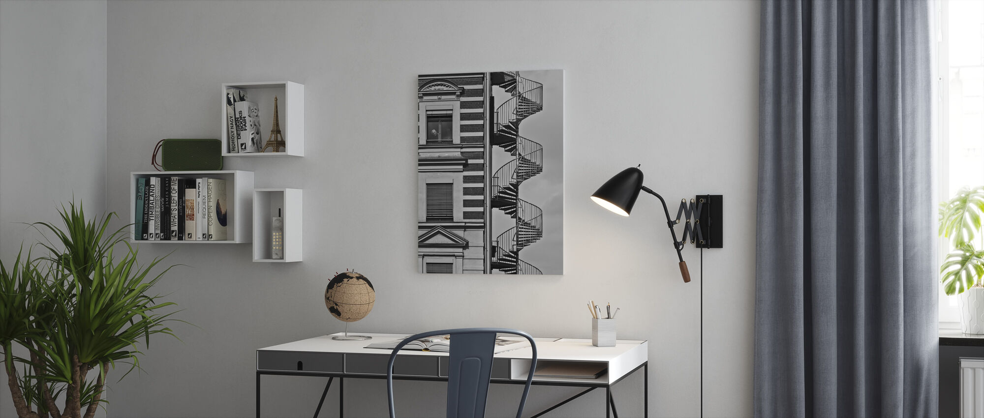 Lonely Man - Canvas print - Office