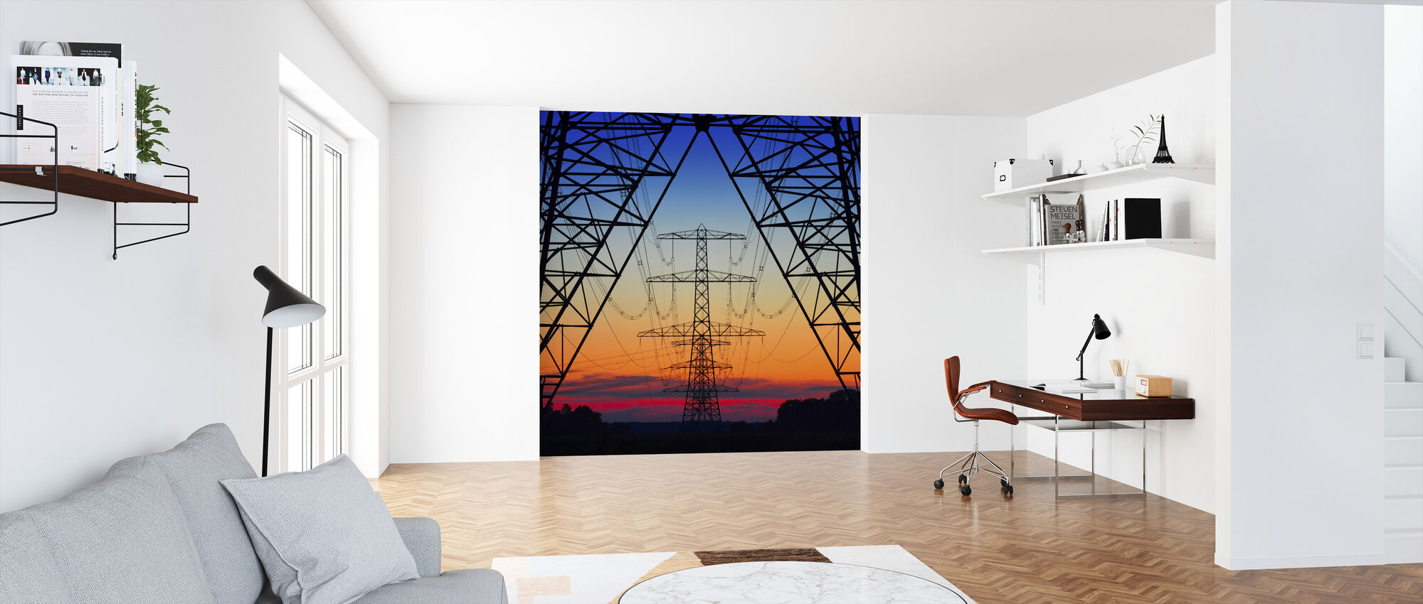 Electric Coloured Sky - Wallpaper - Office