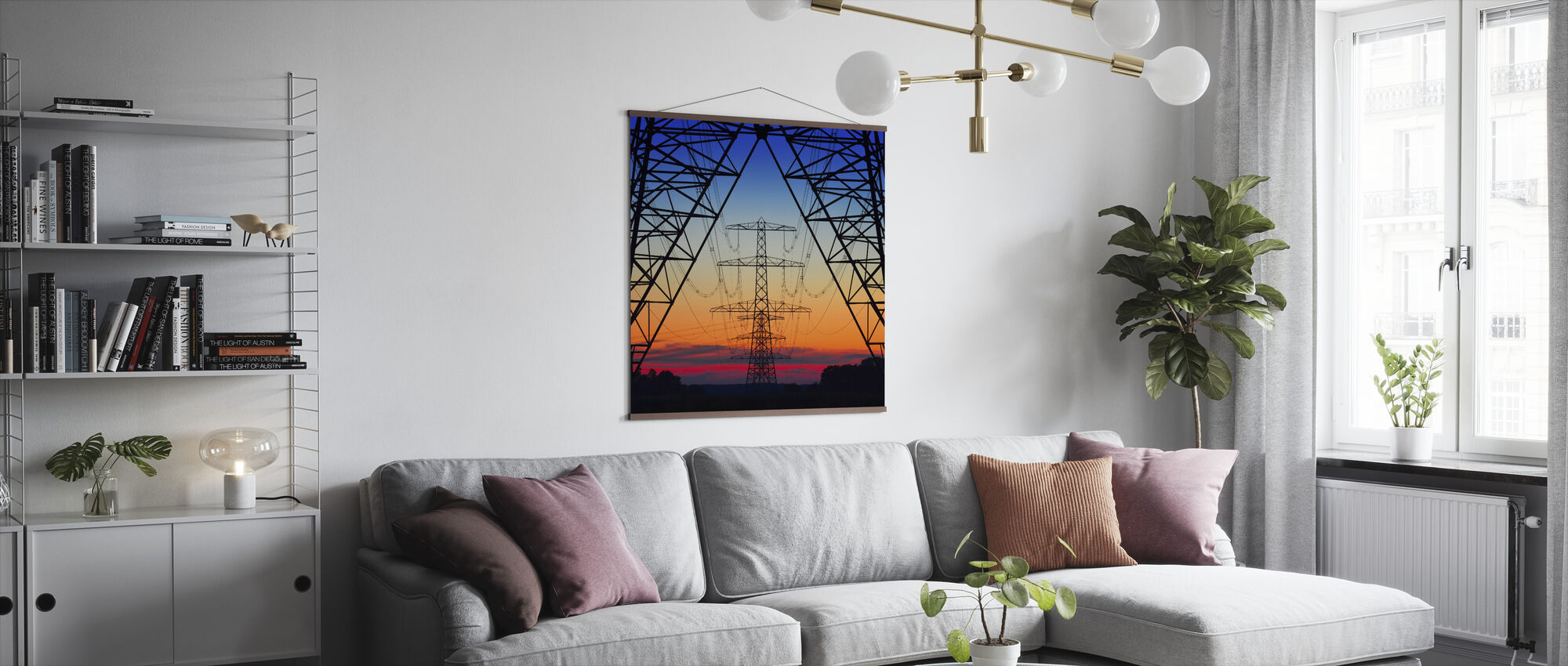 Electric Coloured Sky - Poster - Living Room