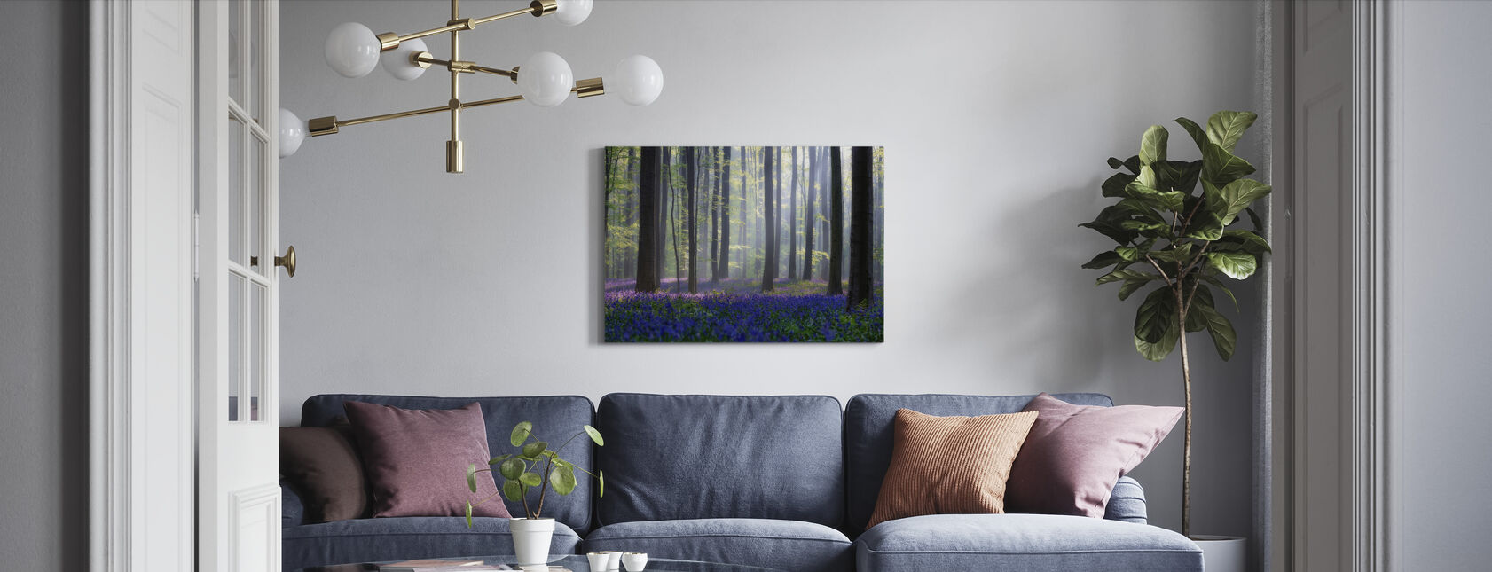Bluebells - Canvas print - Living Room