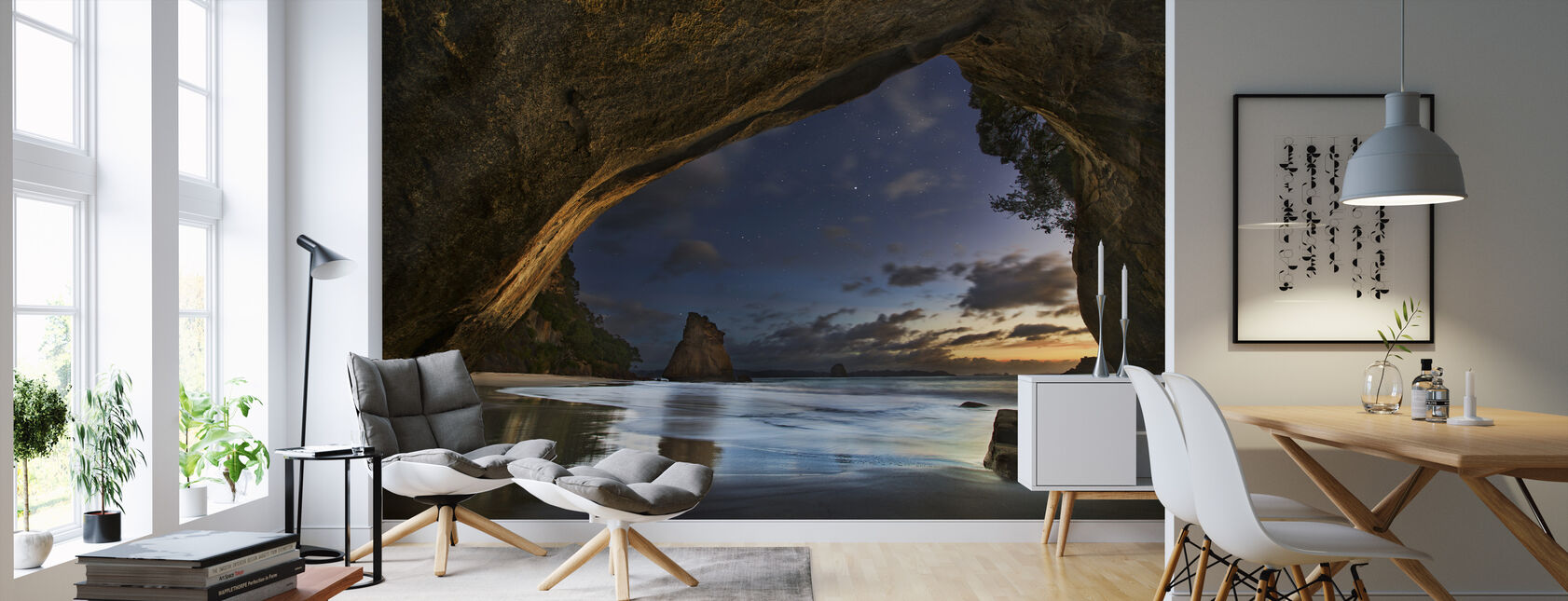 Cathedral Cove - Wallpaper - Living Room
