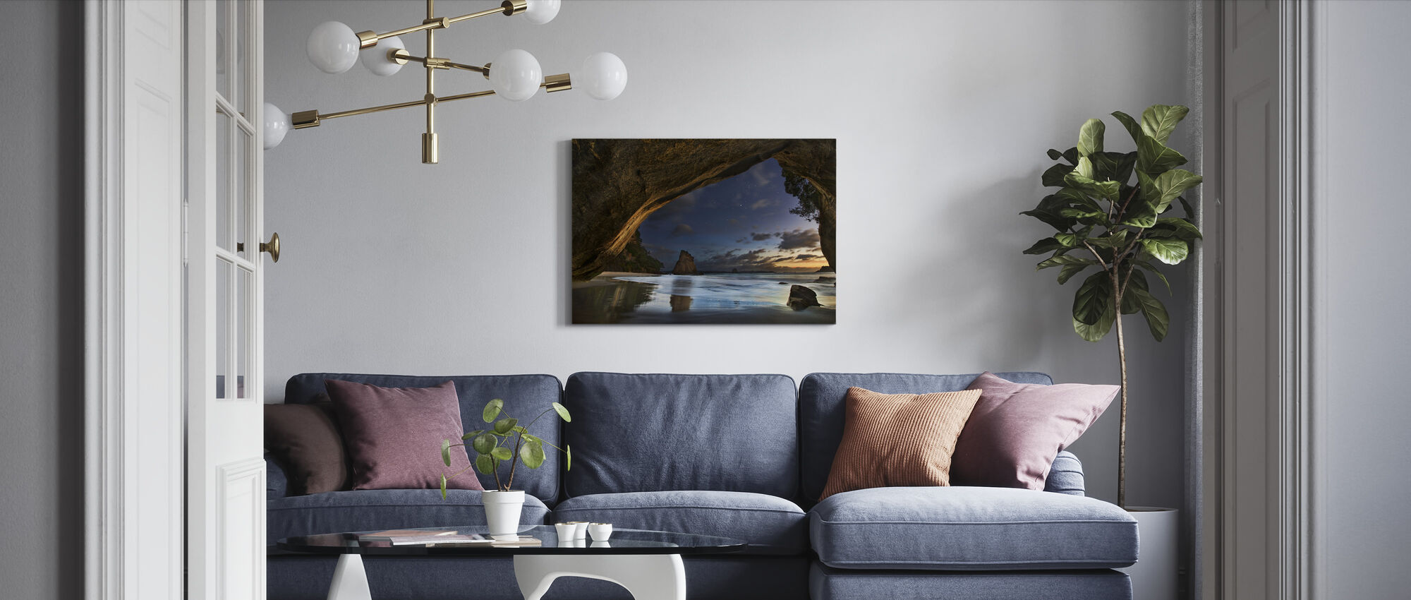 Cathedral Cove - Canvas print - Living Room