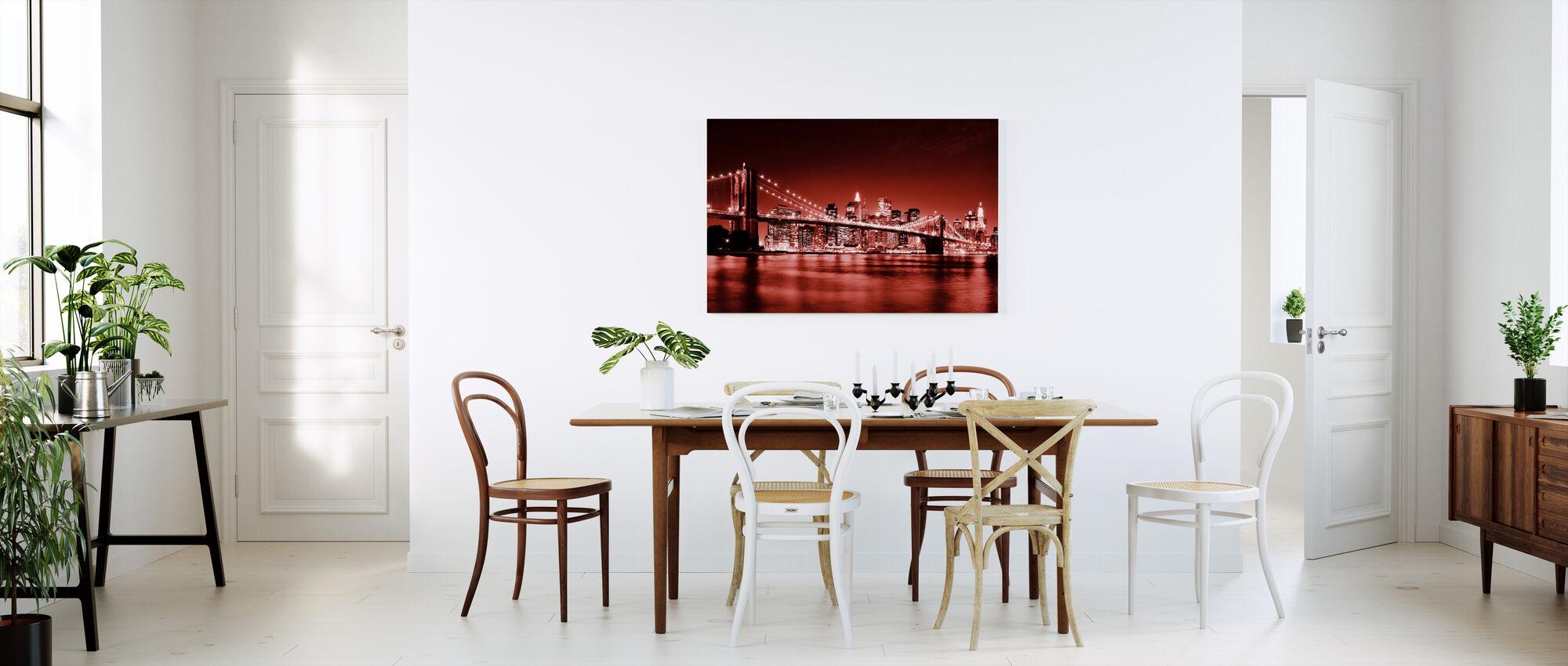 Brooklyn Bridge - Punainen - Canvastaulu - Keittiö