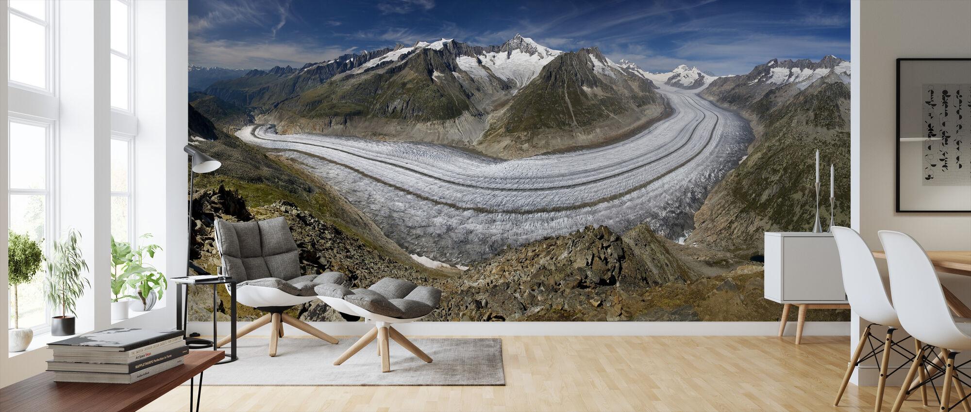 Glacier - Wallpaper - Living Room