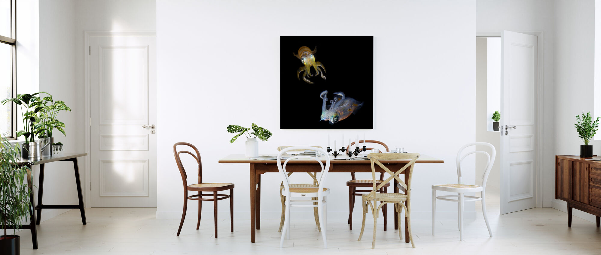 Glowing Squids - Canvas print - Kitchen