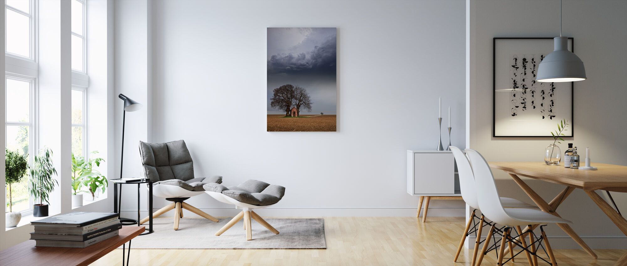 Lonely House - Canvas print - Living Room