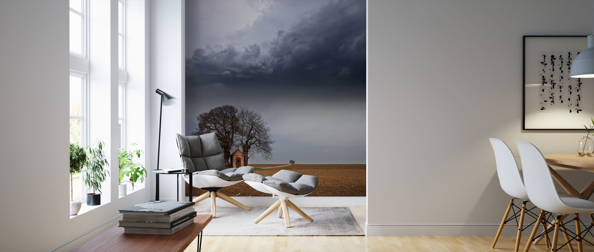 Ensam hus - Tapet - Vardagsrum