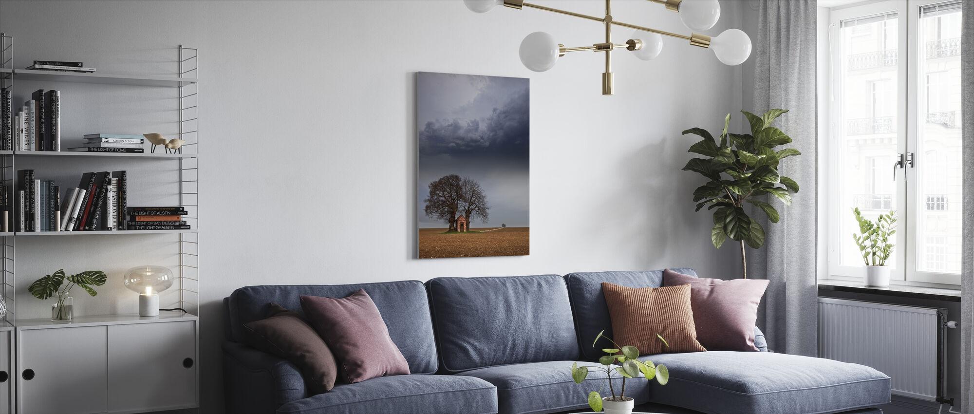Yksinäinen House - Canvastaulu - Olohuone