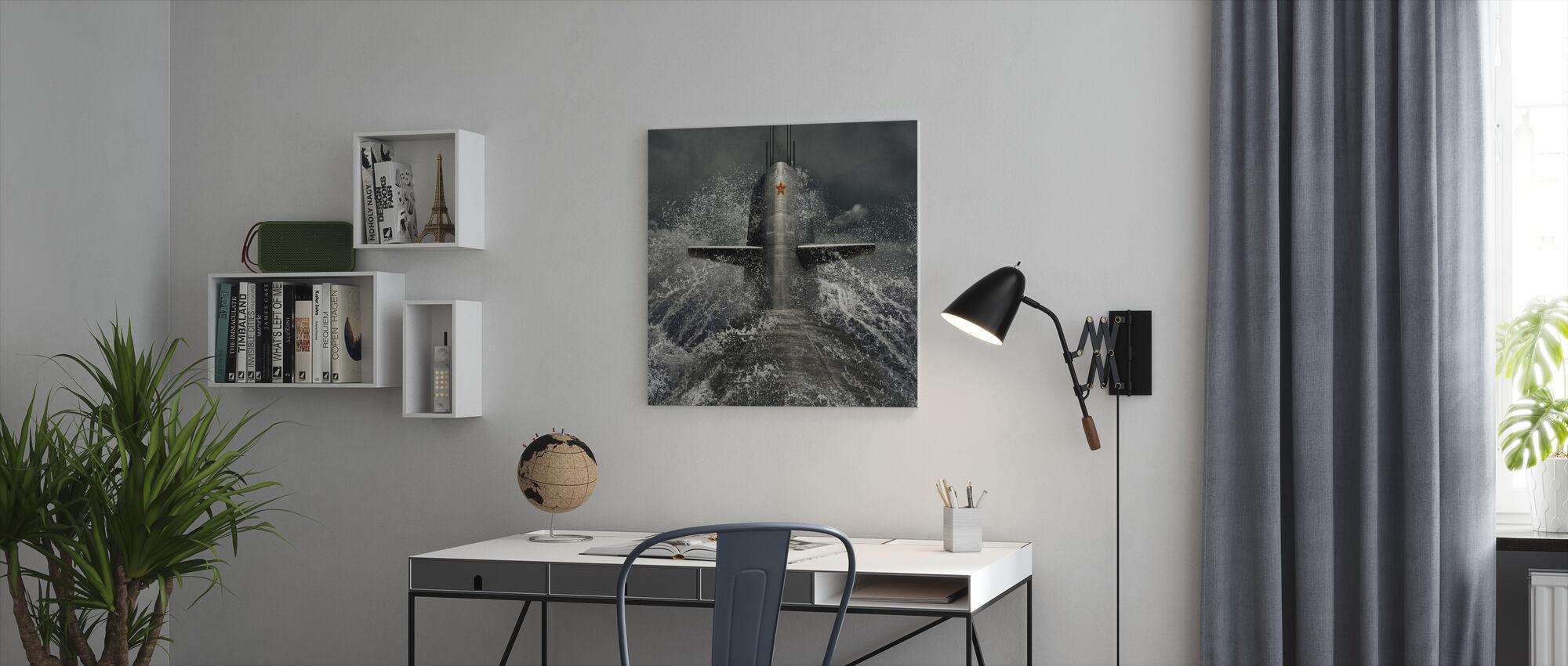 Sukellusvene - Canvastaulu - Toimisto