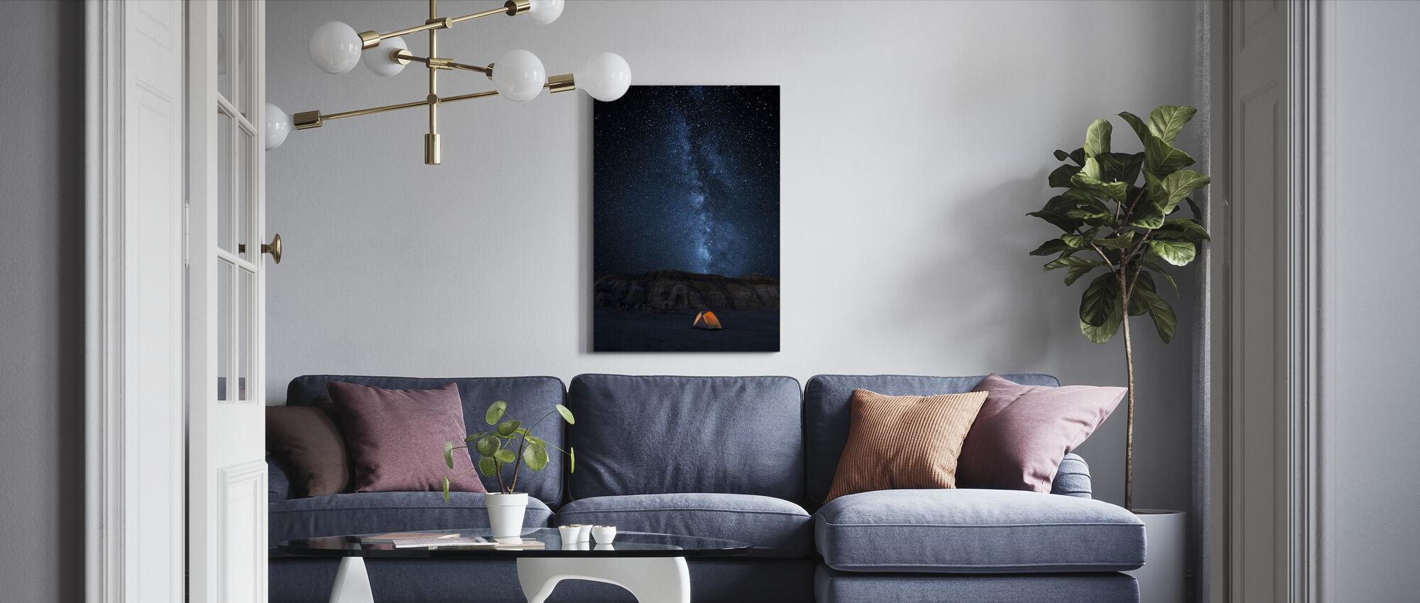 Gwiaździste niebo - Obraz na płótnie - Pokój dzienny