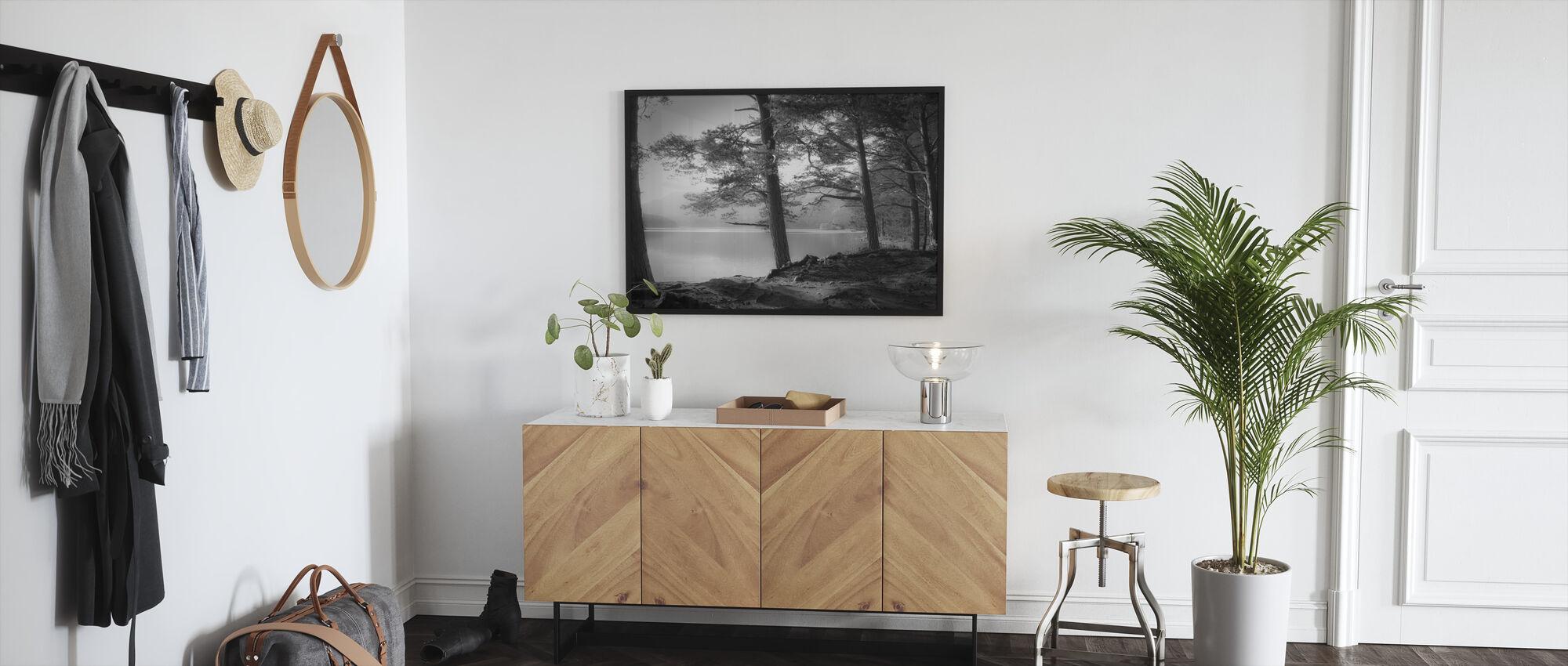 Lake - Grey - Framed print - Hallway