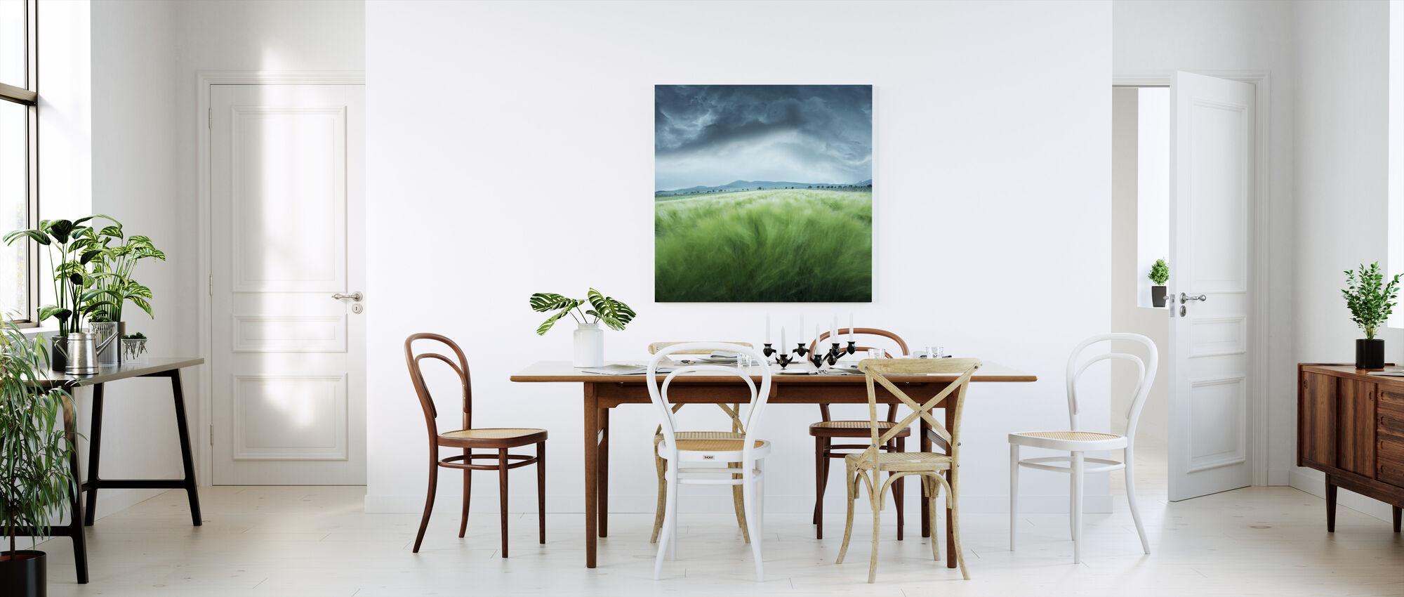 Green Barley Field - Canvas print - Kitchen