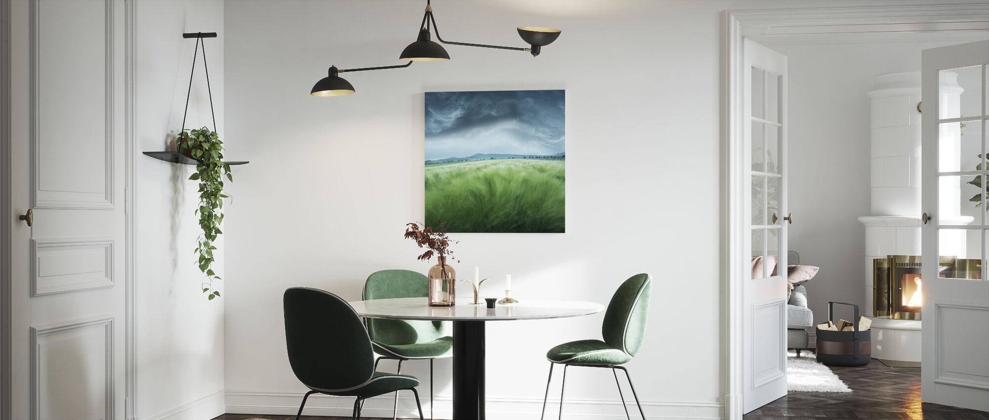 Groen Gerst Field - Canvas print - Keuken