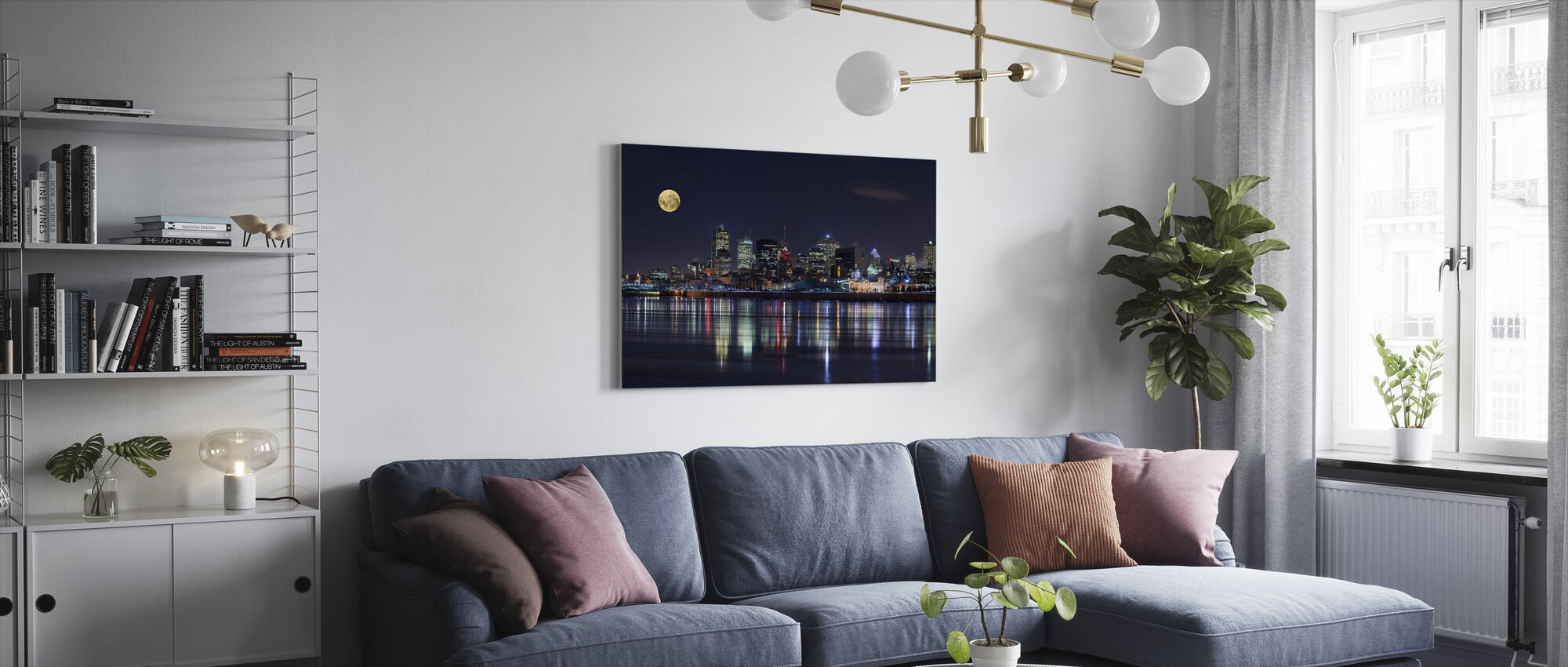 Montreal City Lights - Canvas print - Living Room