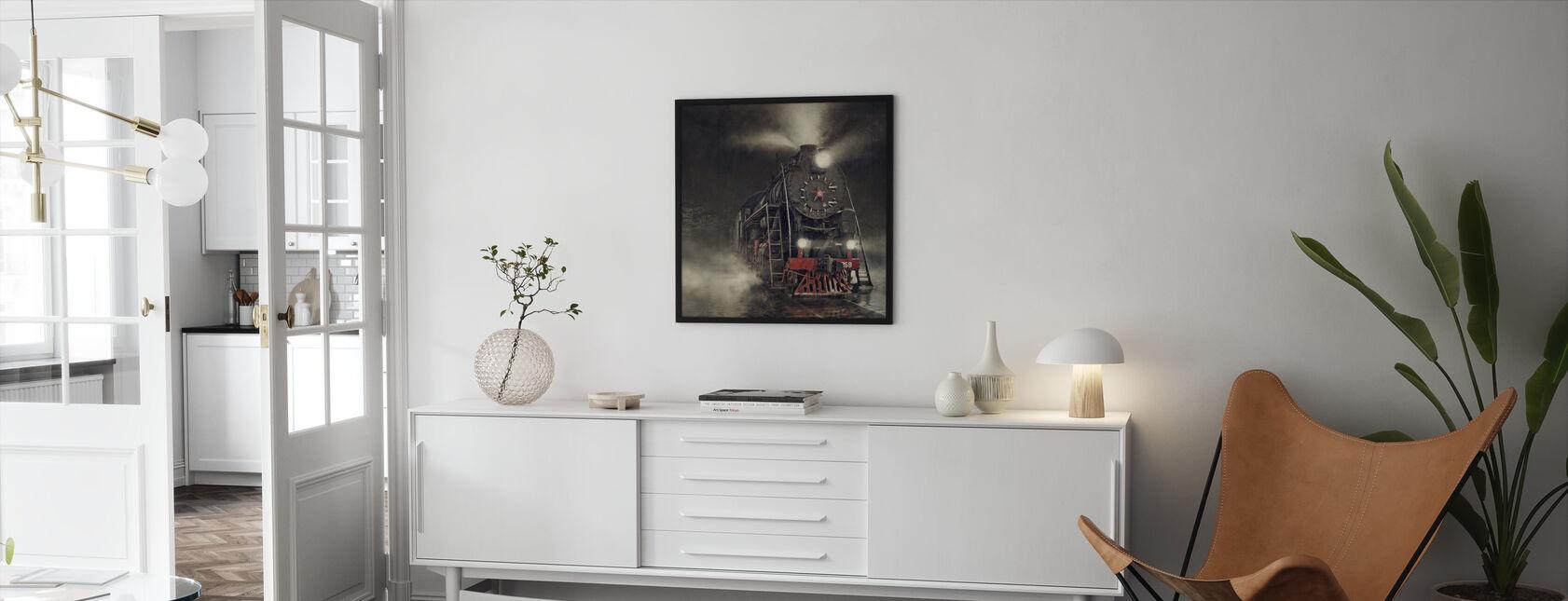 Train in the Rain - Framed print - Living Room
