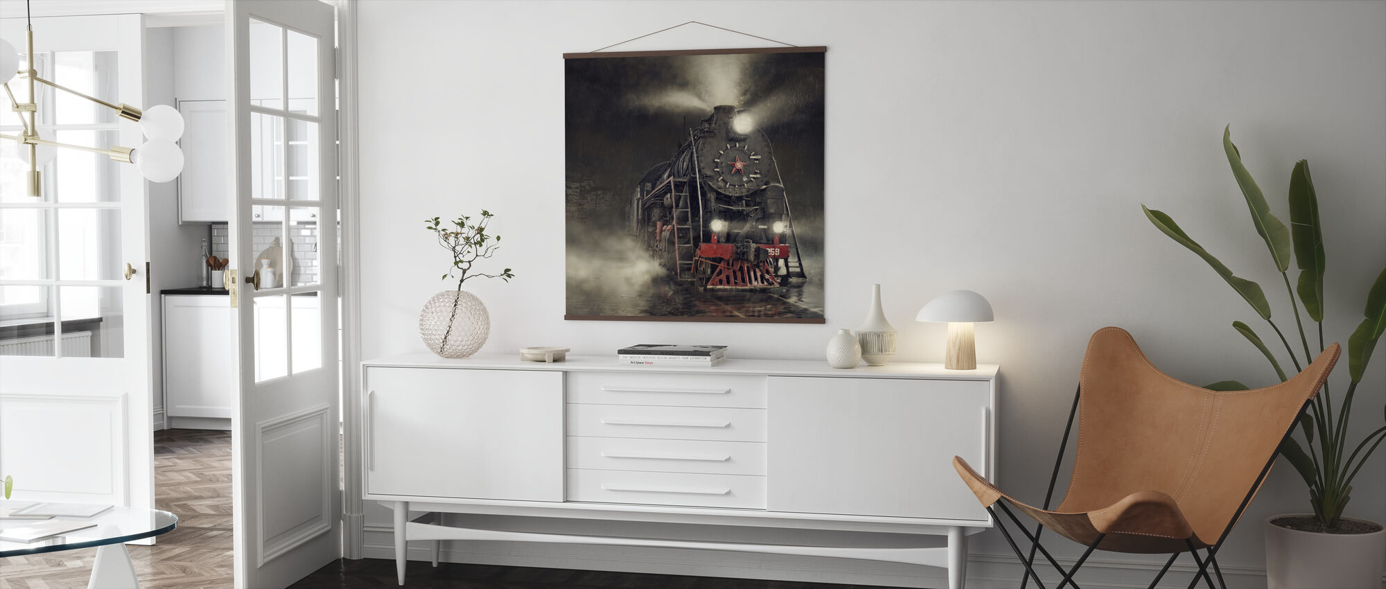 Train in the Rain - Poster - Living Room