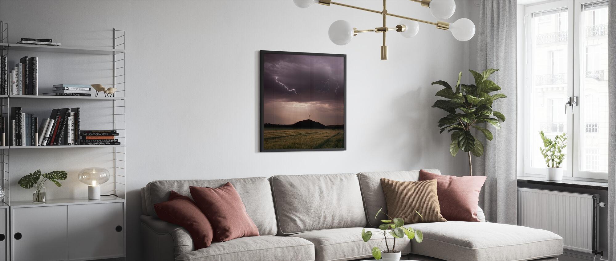 Morgen tordenvær - Innrammet bilde - Stue