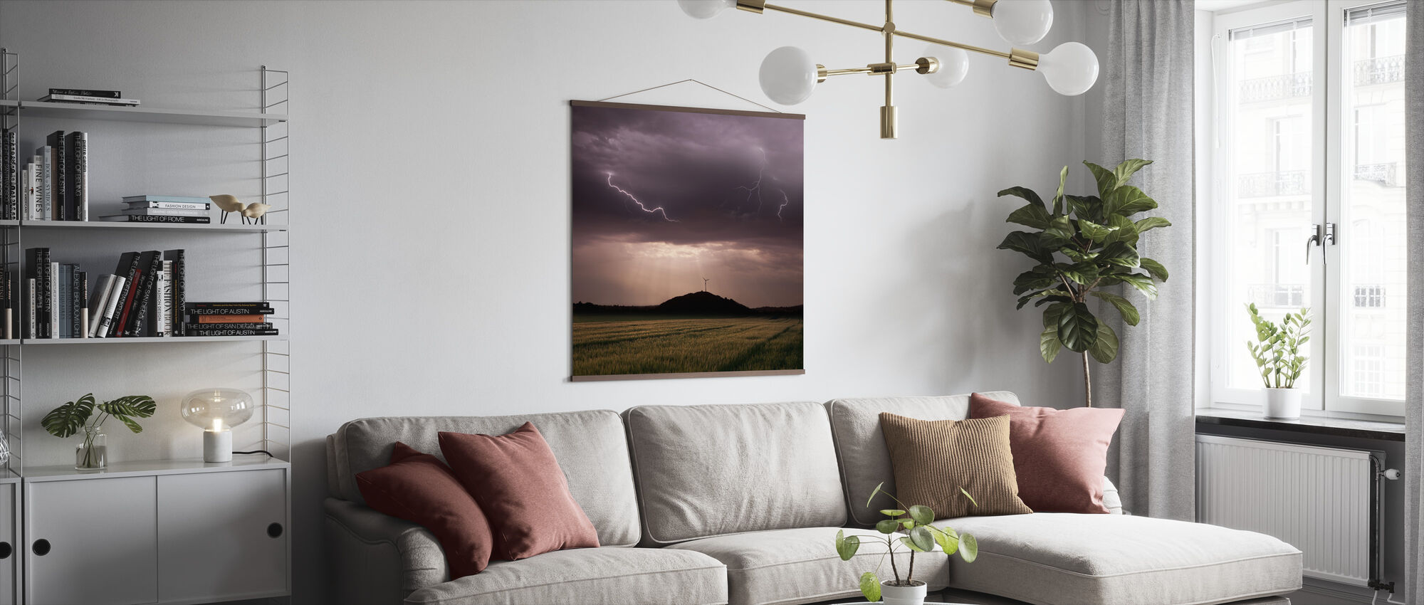 Morning Thunderstorm - Poster - Living Room