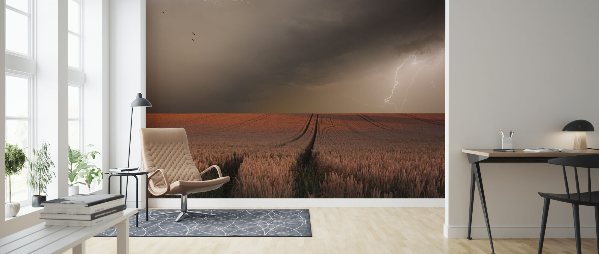 Lightning Field - Wallpaper - Living Room