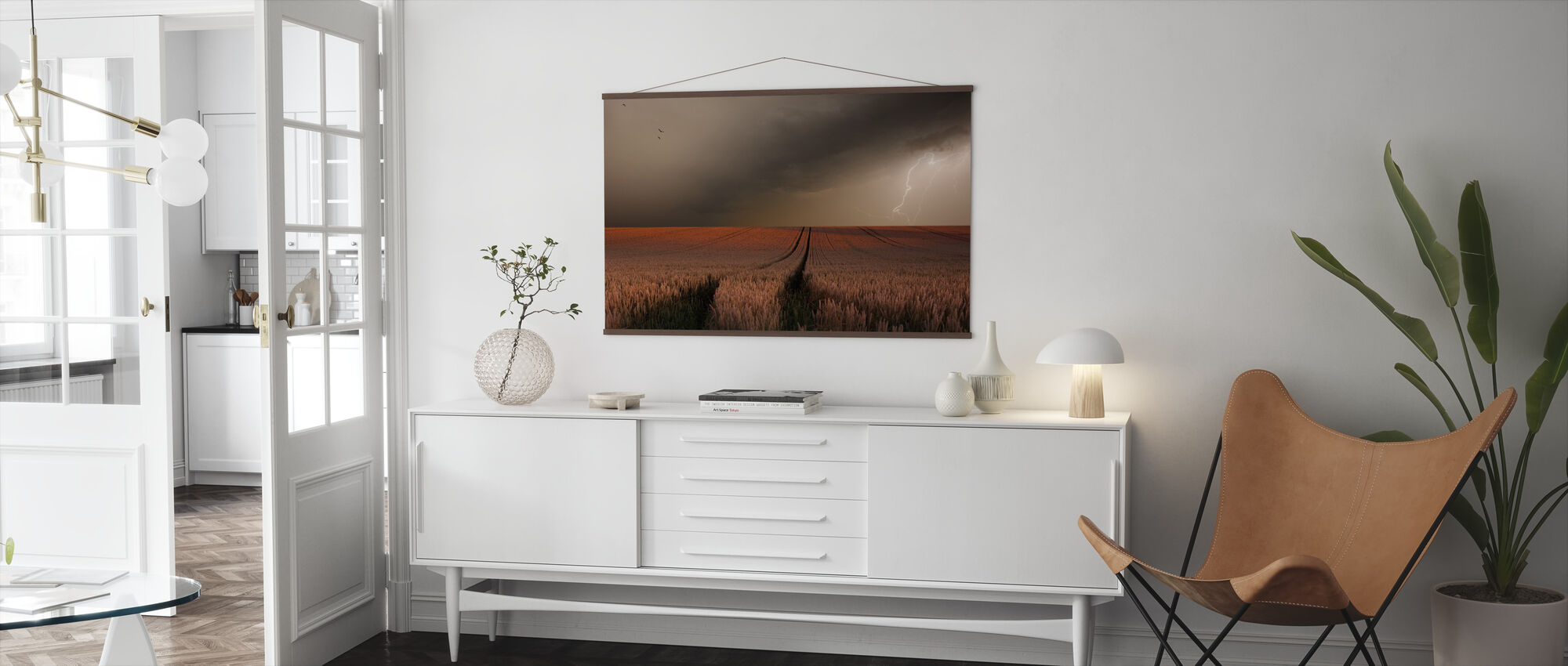 Lightning Field - Poster - Living Room