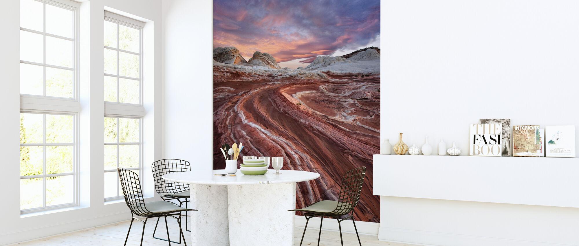 Red Sandstone Rock - Wallpaper - Kitchen