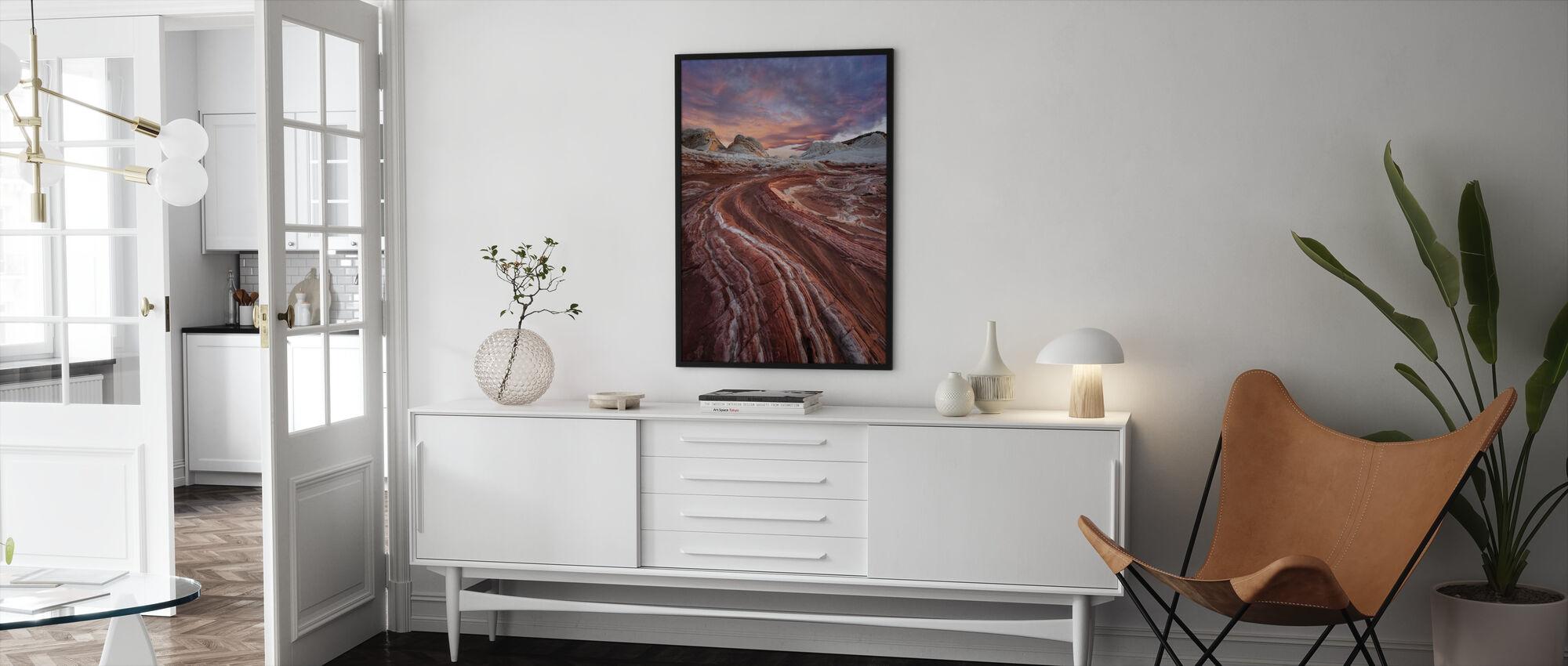 Punainen hiekkakivi - Kehystetty kuva - Olohuone