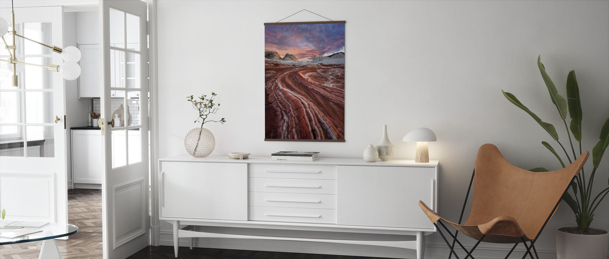 Red Sandstone Rock - Poster - Living Room