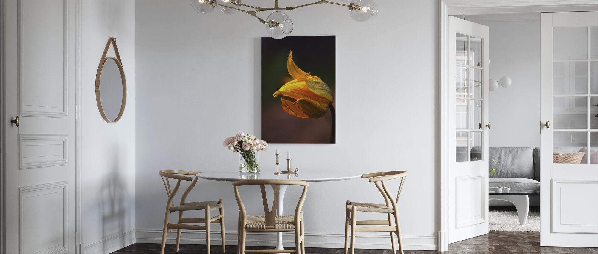 Orange Flower - Canvas print - Kitchen