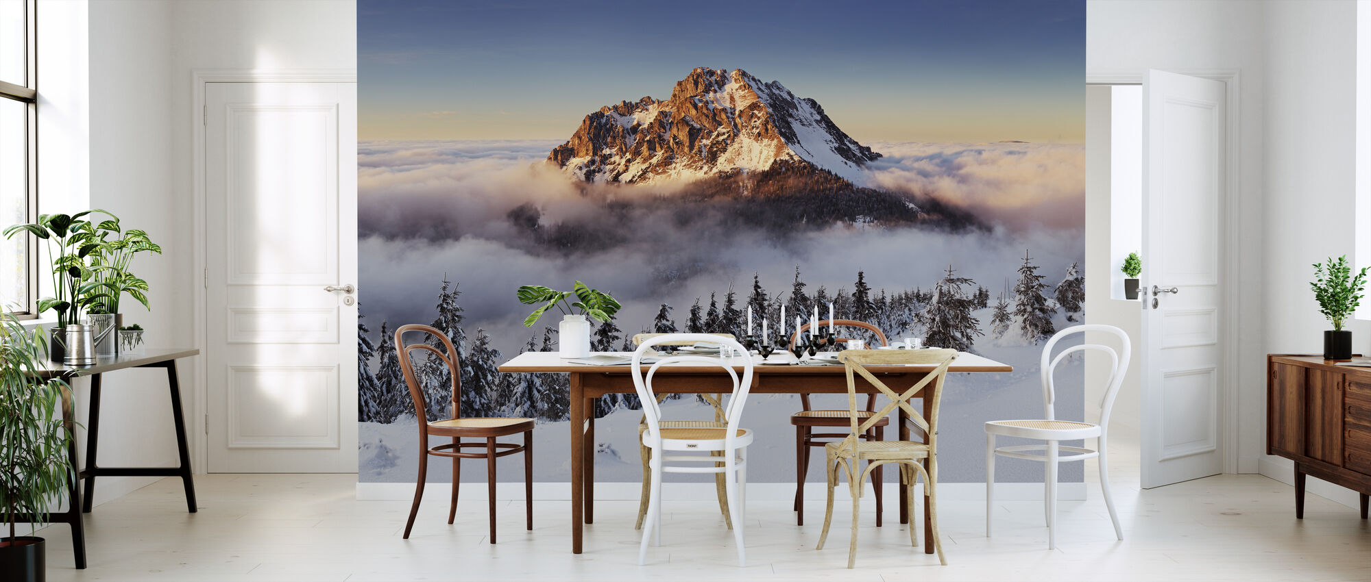 Snøhvit fjell - Tapet - Kjøkken