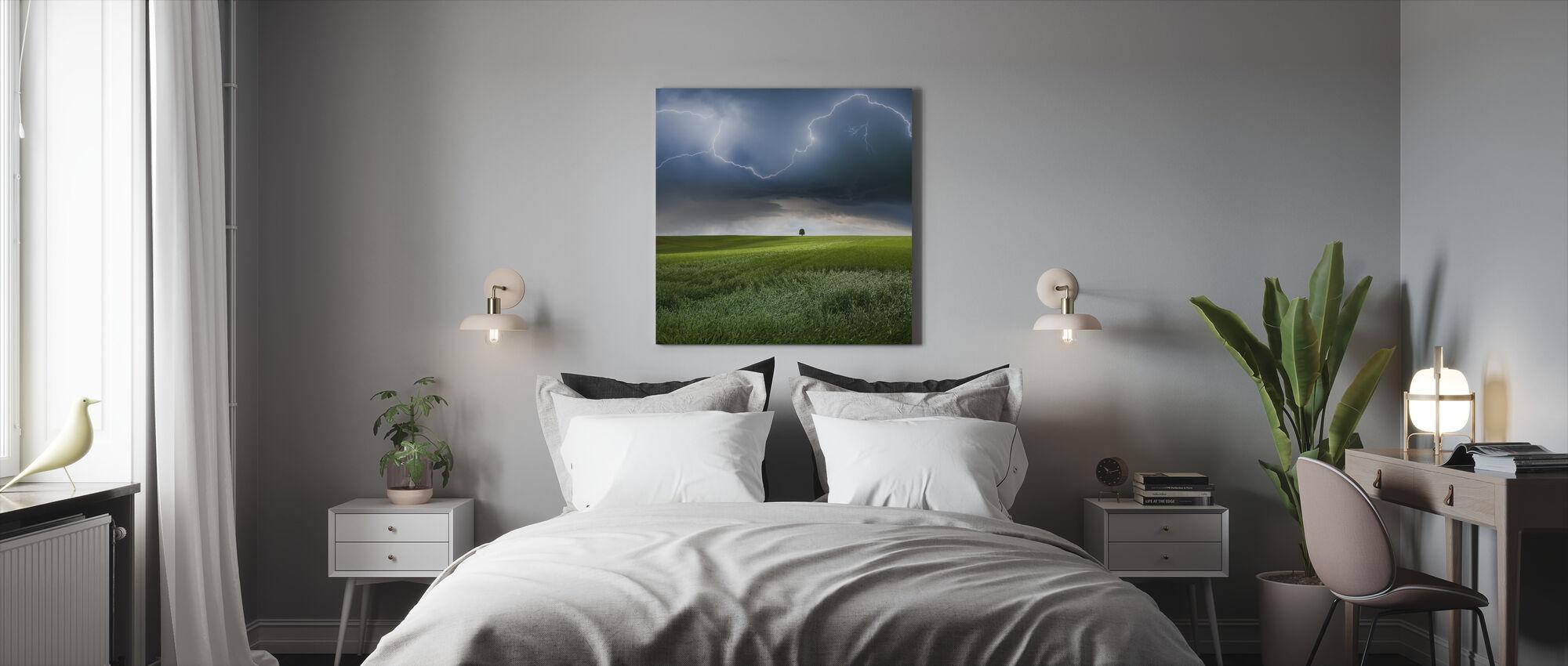 Summer Lightning - Canvas print - Bedroom