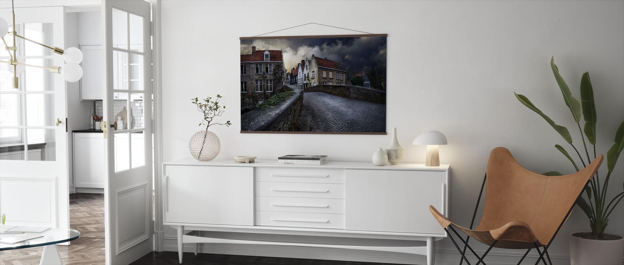Bridge in Bruges - Poster - Living Room