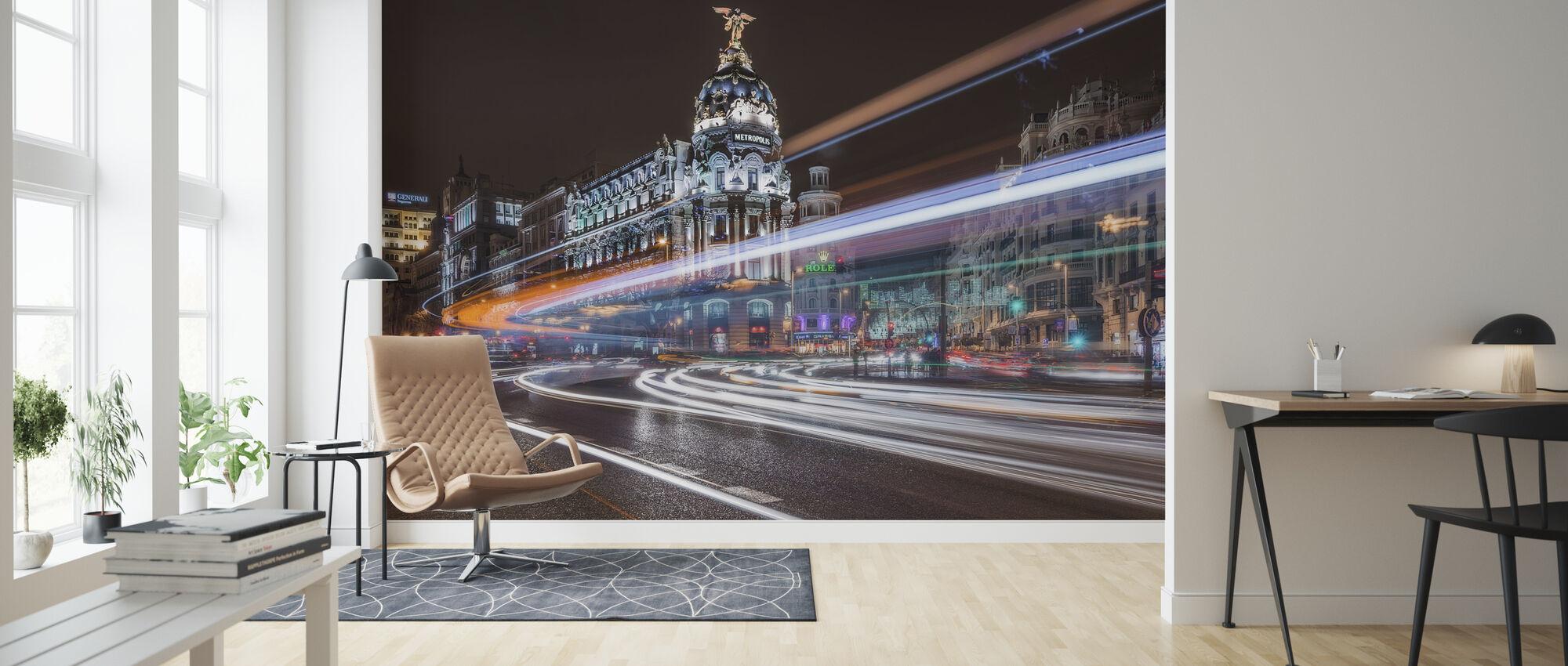 Madrid City Traffic - Wallpaper - Living Room