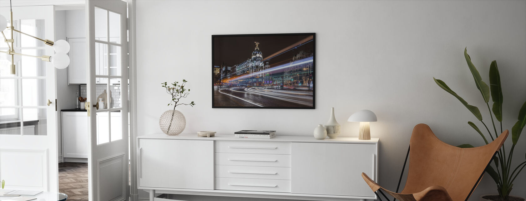 Madrid City Traffic - Framed print - Living Room