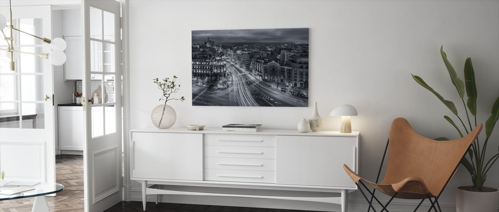 Madrid City Lights - Canvas print - Woonkamer