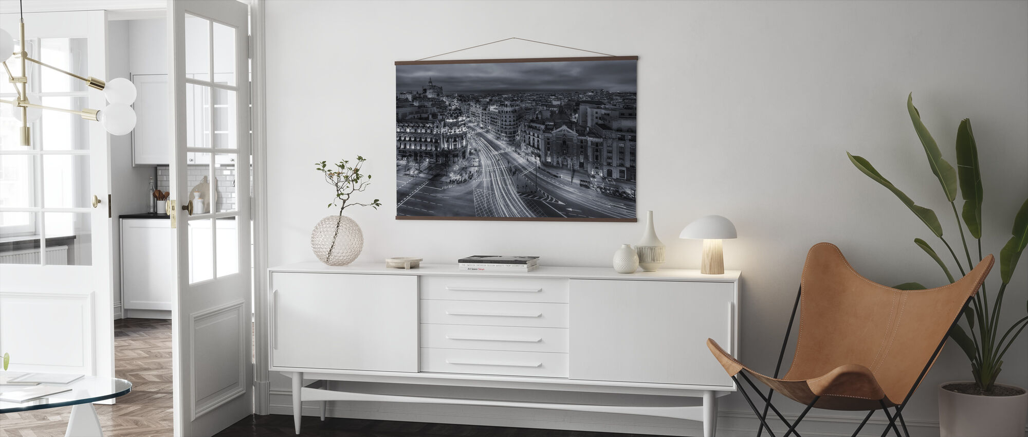 Madrid City Lights - Poster - Living Room