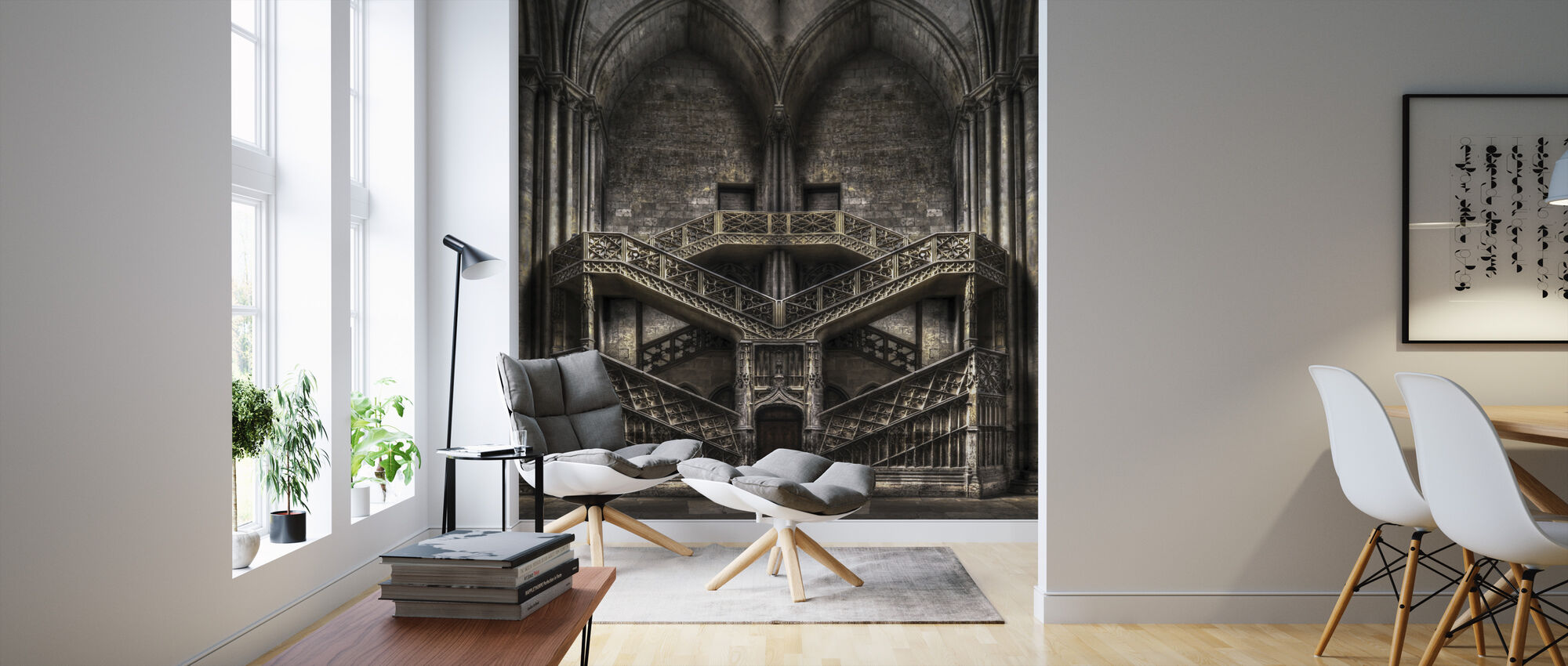Castle Architecture - Wallpaper - Living Room