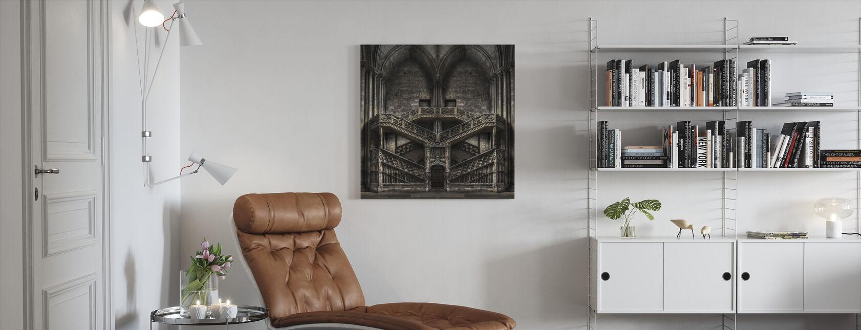 Castle Architecture - Canvas print - Living Room