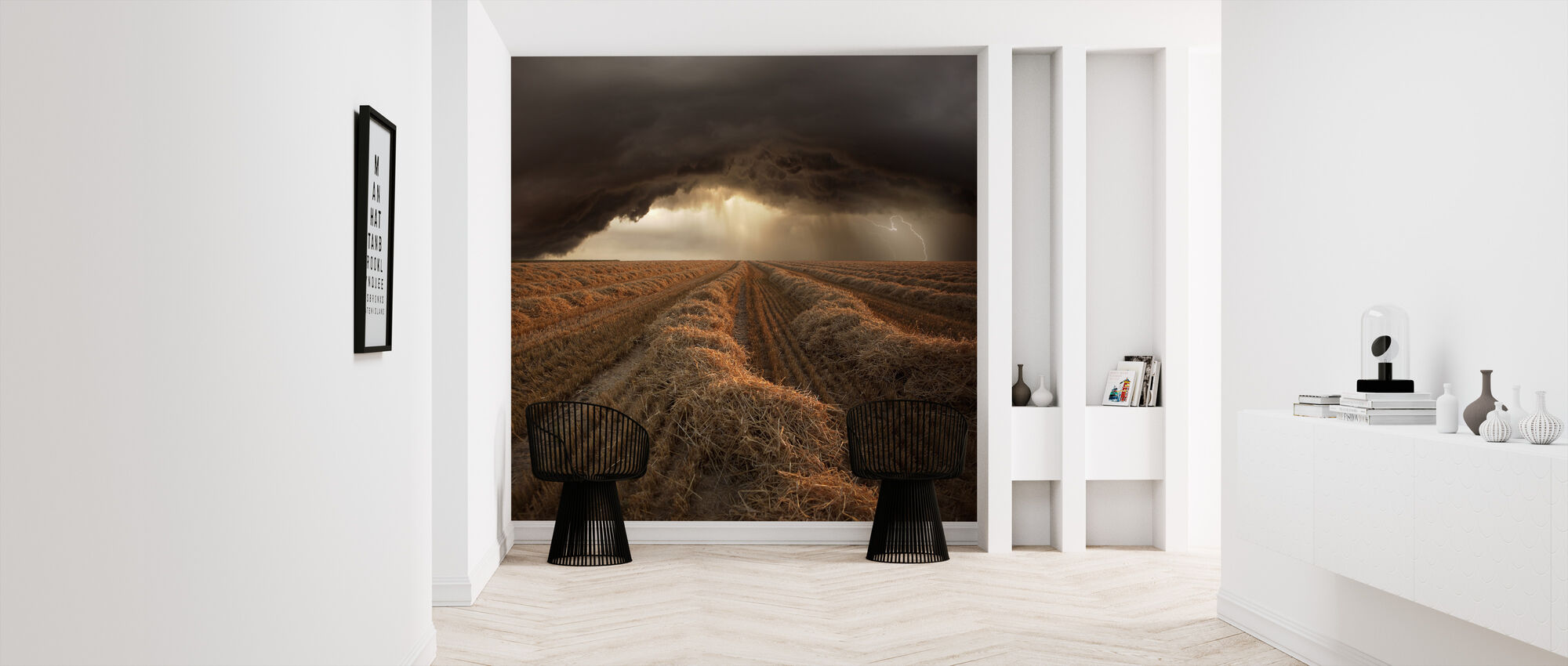 Stormy Fields - Wallpaper - Hallway