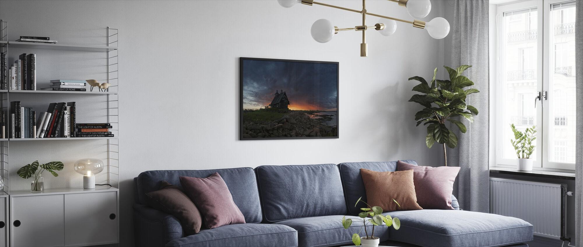 Church at Sea - Framed print - Living Room
