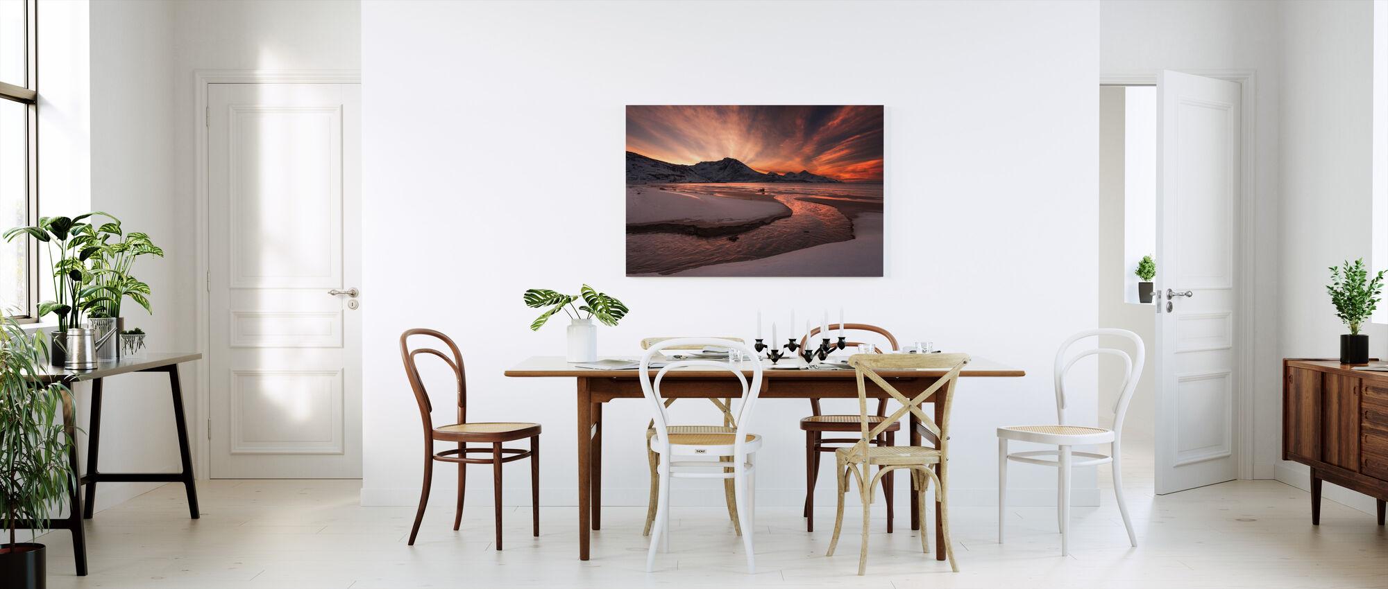 Golden Sunset in Norway - Canvas print - Kitchen