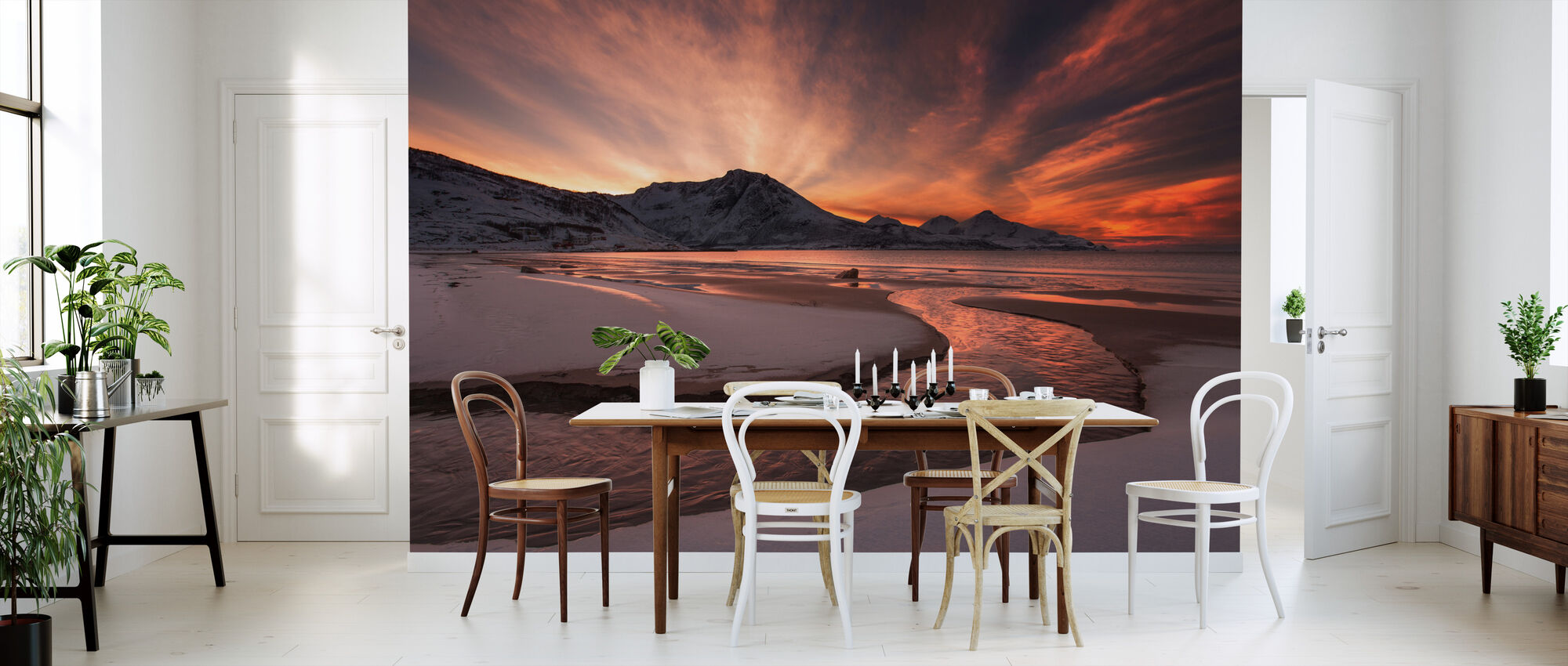 Golden Sunset in Norway - Wallpaper - Kitchen